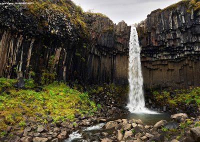 Rejser til Island - Svartifoss ved Skaftafell
