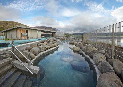 Fontana Spa ved Laugarvatn i Island.