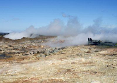 Gunnuhver - voldsom geotermisk aktivitet på Reykjanes-halvøen.
