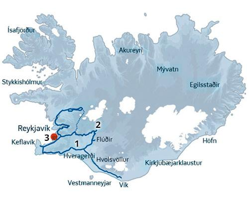 Gullfoss-Geysir-Thingvellir er fællesbetegnelsen for Den Gyldne Cirkel i Island.