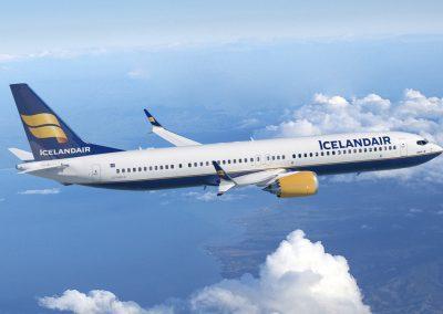 Icelandair flyver til Island.
