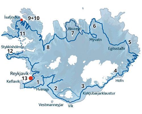 Vestfjordene i Island er en del af denne skønne kør-selv ferie i Island med ISLANDSREJSER - rejser til Island