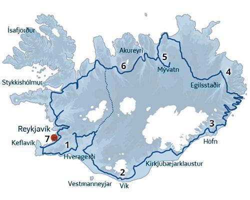 Rundrejse i Island - en kør-selv ferie og rejse fyldt med naturoplevelser - Gullfoss, Geysir, Thingvellir, Myvatn, Skogafoss, Dettifoss... og meget mere.