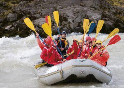 Prøv River rafting i Island.