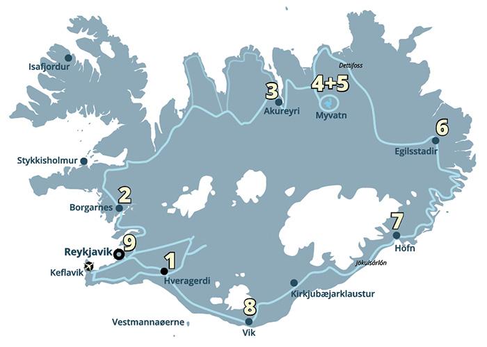 Island rundt kør-selv ferie og rejse til Island med ISLANDSREJSER