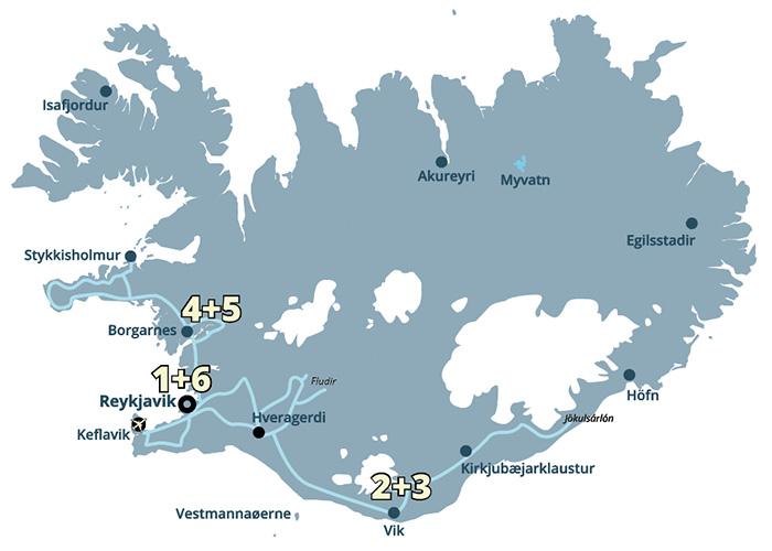 Naturoplevelser i massevis på denne kør-selv rejse med ISLANDSREJSER - rejser til Island.