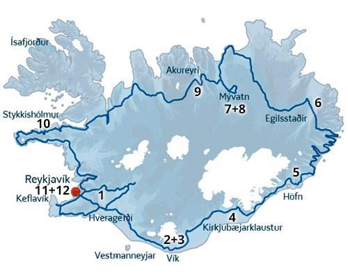 Naturoplevelser i Island på en skøn kør-selv ferie rute med ISLANDSREJSER - rejser til Island.
