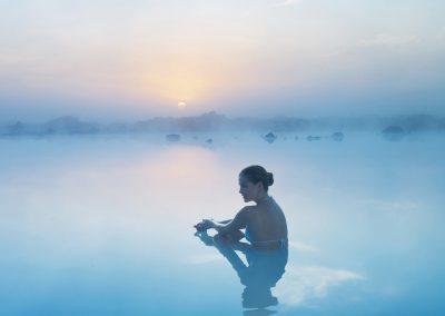 Nyd et dejligt bad i Blue Lagoon geotermiske spa