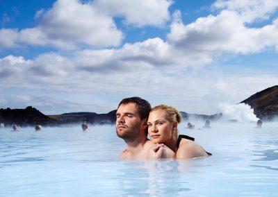 Romantik i Blue Lagoon geotermiske spa