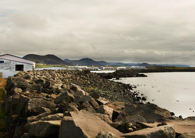 Stenmole ved Grindavik på Reykjanes-halvøen