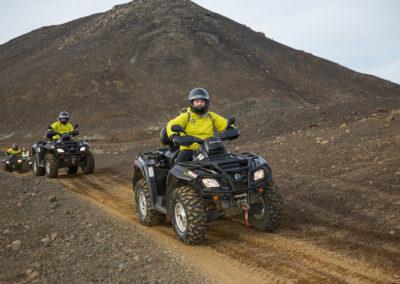 ATV på Reykjanes-halvøen i Island på kør-selv ferie og bilferie med ISLANDSREJSER