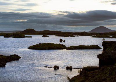 Aftenstemning ved Mývatn søen