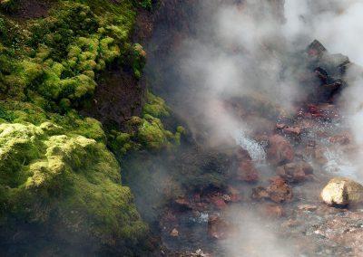 Deildatunguhver geotermiske kilde - tæt på det kogende vand