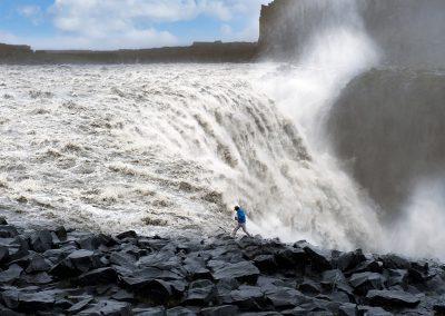 Dettifoss vandfaldet er Europas kraftigste vandfald