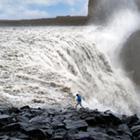 Synet af de enorme vandmasser ved Dettifos glemmer man ikke. Det er det kraftigste vandfald i Europa!