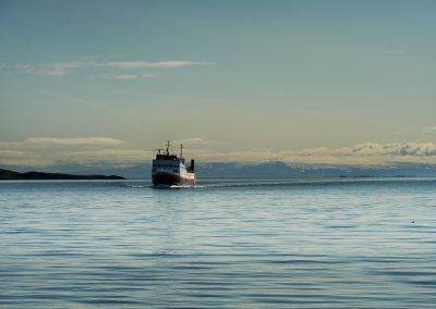 Færgen hen over Breidafjördur bugten ud for Stykkisholmur
