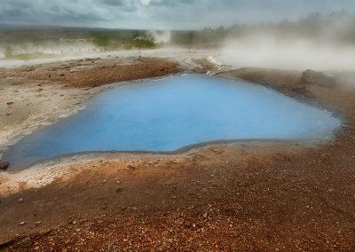 Geotermisk pool ved Geysir området
