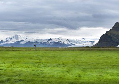 Den mægtige gletsjer Vatnajökull kan ses på lang afstand :: foto: Lars Viberg - ISLANDSREJSER