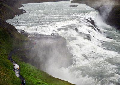 Det mægtige Gullfoss-vandfald - Den Gyldne Cirkel i Island