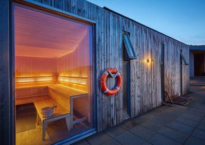 Sauna ved Fontana spa - Den Gyldne Cirkel i Island