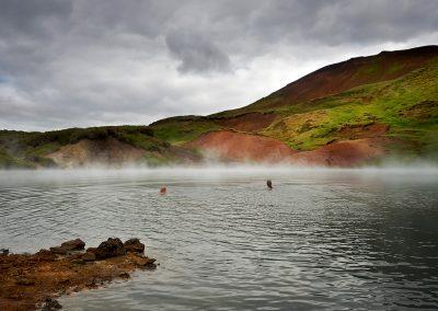 Geotermisk sø i Hengill området