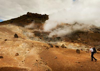 Fascinerende geotermisk aktivitet ved Hengill i Island