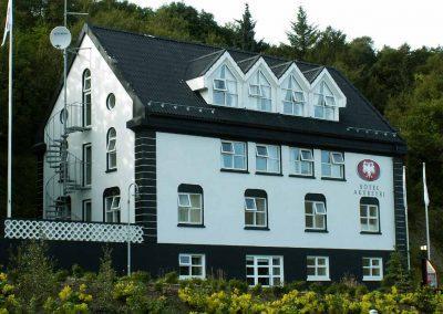Det dejlige og hyggelige Hotel Akureyri på juli + august-turen.