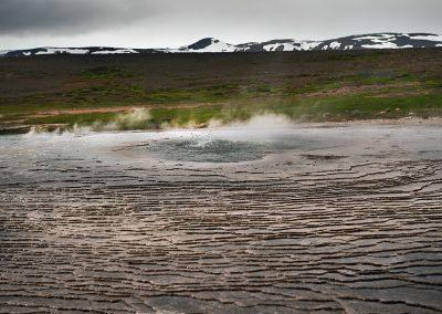 Geotermisk aktivitet ved Hveravellir inde midt i højlandet