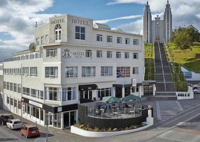 Hotellet i Akureyri på grupperejse Island