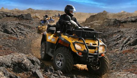 ATV i Island - her på Reykjanes-halvøen