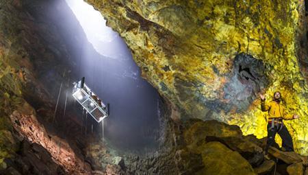 Ind i vulkanen er en af de mest spektakulære geologiske oplevelser i Island.