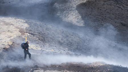 Fantastisk hiking i Island ved Thorsmök vulkan-hike