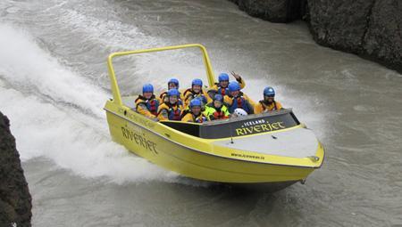 River Jet på en islandsk elv - en anderledes oplevelse ikke så langt fra Reykjavik