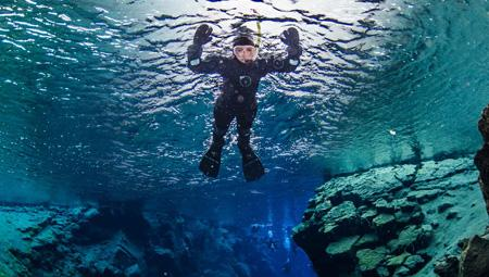 dykke snorkle i Island - et sandt hotspot.