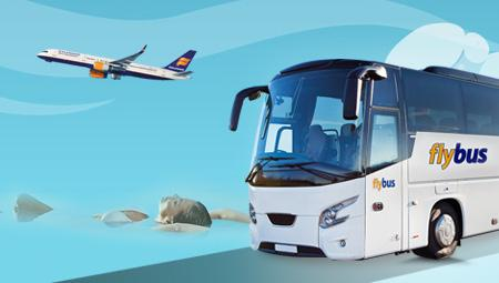 Fly til Island - så har I brug for FlyBus og lufthavnstransport. Her kommer I forbi Blue Lagoon - nemt og bekvemt.