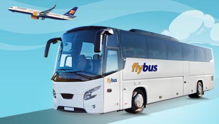 Fly til Island - så har I brug for FlyBus og lufthavnstransport. Det hjælper vi jer med.
