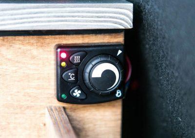 Auto Camper Van i Island - varmeregulering
