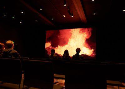 I LAVA vulkancenter kan man også se en spændende film om vulkaner