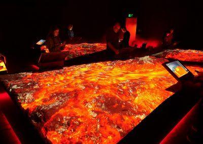 Spændende lavasimulation kan opleves på LAVA Centre i Hvolsvöllur