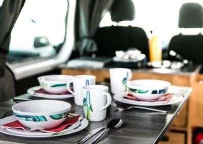 Auto Camper Van i Island - køkkenfaciliteter