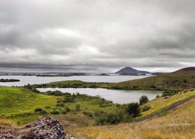 Udsigt over Mývatn søen