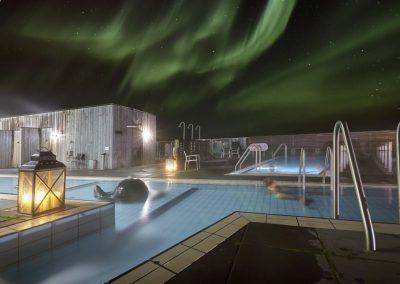 Nordlys og Wellness spa i Island med ISLANDSREJSER