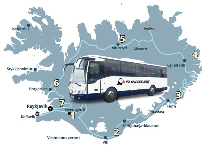 Grupperejse til Island med dansktalende guide