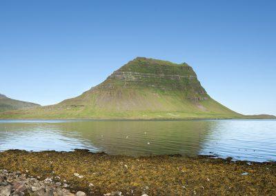 Nok et af de mest fotograferede bjerge i Island - Kirkjufell på Snæfellsnes