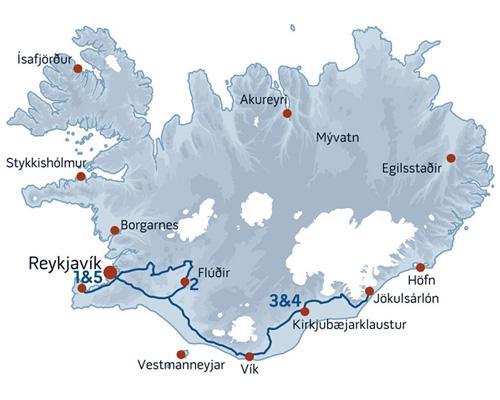 Søger du en billig rejse til Island så kig nærmere på denne prisvenlige guidede grupperejse / pakkerejse.
