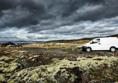 Auto Camper Van i Island - lavamarker
