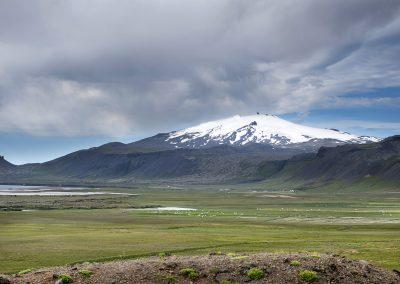 Den mægtige Snæfellsjökull kan ses på lang afstand