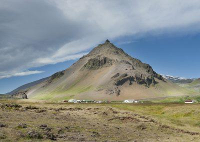 Bjerget Stapafell på sydsiden af Snæfellsnes