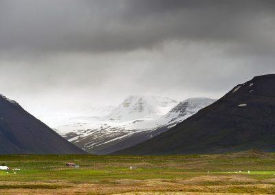 Bjerglandskab i Vestisland