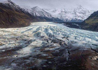 Svinafellsjökull - gletsjertunge ved Vatnajökull